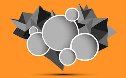 Polygon choice option background. EPS 10 Vector Royalty Free Illustration