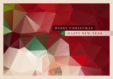 Polygon Christmas Greeting Card. Vector Christmas greeting card design with abstract polygonal background Stock Photography
