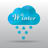 Polygon cloud with weather icon vector Stock Images
