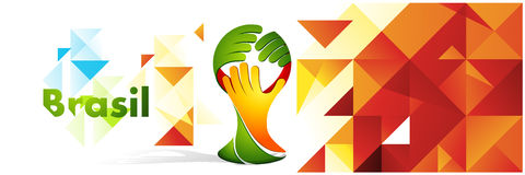 Polygon color background with hands symbol royalty free stock images