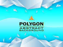 Polygon concept design Abstract, Vector illustration Royalty Free Stock Images