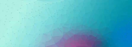 Polygon cyan purple backgroun Royalty Free Stock Image
