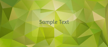 Polygon design stylized vector abstract background. Warm green tints Royalty Free Stock Photography
