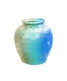 Polygon Earthenware jar Royalty Free Stock Photo