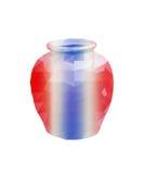 Polygon Earthenware jar Stock Images