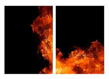 Polygon fire layout paper concept Stock Photo