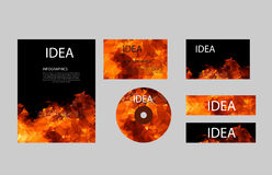 Polygon fire layout paper set Royalty Free Stock Photography