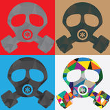 Polygon gas mask Royalty Free Stock Photo