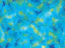 Background. Polygon geomethric blue-green background Royalty Free Stock Photography