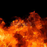 Polygon geometric fire background Royalty Free Stock Photography