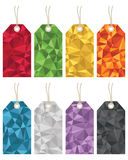 Polygon gift tags Royalty Free Stock Photography
