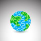 Polygon Globe Icon Stock Images