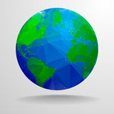 Polygon globe Royalty Free Stock Photos