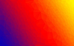Polygon gradient vector spectrum colors Royalty Free Stock Photography