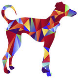 Polygon Greyhound Dog Icon Stock Images
