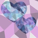 Polygon heart absrtact background. Colorful vector illustion design royalty free illustration