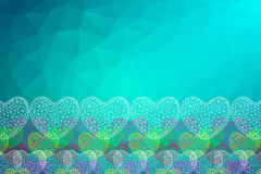 Polygon Heart.Abstract love vector illustration. Background Stock Photos