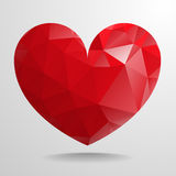 Polygon heart Royalty Free Stock Image