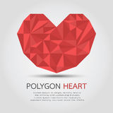 Polygon Heart Stock Photo