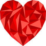 Polygon heart illustration Stock Images