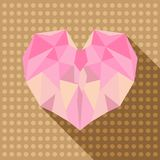 Polygon love heart shape Stock Photos