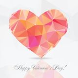 Polygon Heart - vector illustration Royalty Free Stock Photography