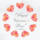 Polygon Hearts - vector illustration Stock Images
