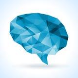 Polygon human brain. Royalty Free Stock Photo
