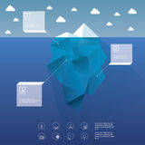 Polygon iceberg concept vector design with Stock Photo
