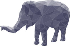 Polygon illustration of elephant Stock Photos