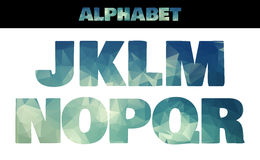 Polygon insulated colorful alphabet font style Royalty Free Stock Photography