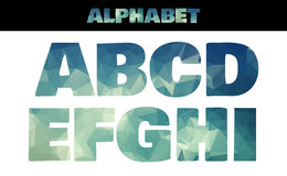 Polygon insulated colorful alphabet font style Stock Photos