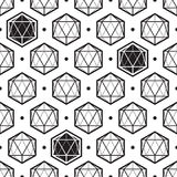 Polygon isometric pattern Royalty Free Stock Photography