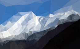 Polygon of Karakoram mountain range, himalayas of Pakistan Royalty Free Stock Photos