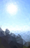 Polygon landscape Stock Images