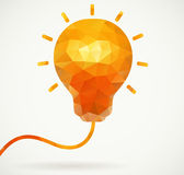 Polygon light bulb, business motivation royalty free illustration