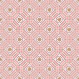 Polygon line flower pastel symmetry seamless pattern Stock Photo
