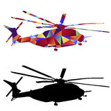 Polygon Military Helicopter Icon Royalty Free Stock Photos