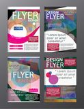 Polygon Modern Brochure Layout design template.Flyer Leaflet cov. Er Presentation eps royalty free illustration