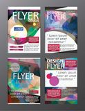 Polygon Modern Brochure Layout design template.Flyer Leaflet cov. Er Presentation royalty free illustration