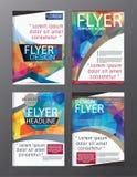 Polygon Modern Brochure Vector CMYK Modern A4 Stock Photo