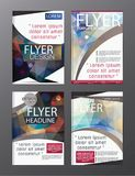 Polygon Modern Brochure Vector CMYK Modern A4. Eps.10 Stock Images