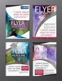 Polygon Modern Brochure Vector CMYK Modern A4. Eps.10 Royalty Free Stock Image