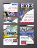 Polygon Modern Brochure Vector CMYK Modern A4. Eps .10 Stock Images