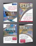 Polygon Modern Brochure Vector CMYK Modern A4. Eps .10 Royalty Free Stock Photography