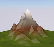 Polygon mountain. Stock Photos
