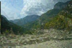 Polygon mountain landscape Royalty Free Stock Photos