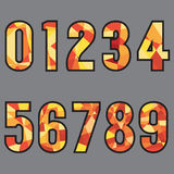 Polygon 0-9 Number Design Stock Photos