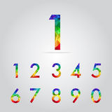 Polygon number set vector. Concept stock illustration