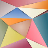 Polygon paper abstract background color. Royalty Free Stock Photography